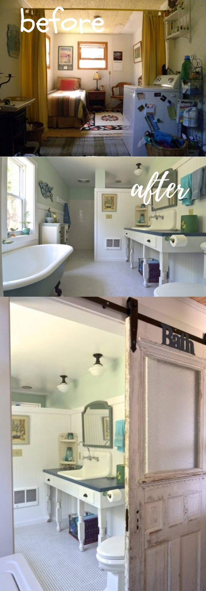 From Canning Porch to Beautiful Vintage Bath