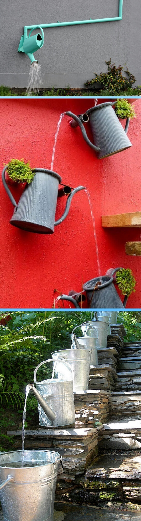 Watering can downspout | Best Downspout landscaping ideas