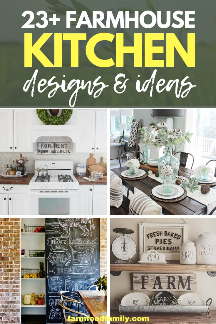 23+ Best FarmHouse Kitchen Design & Decor Ideas
