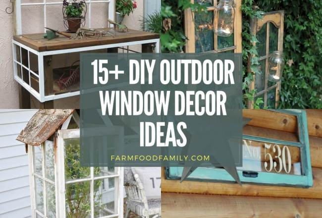 15+ Creative DIY Outdoor Window Decor...