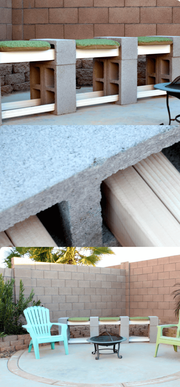 How to make a cinder block bench for less than $30