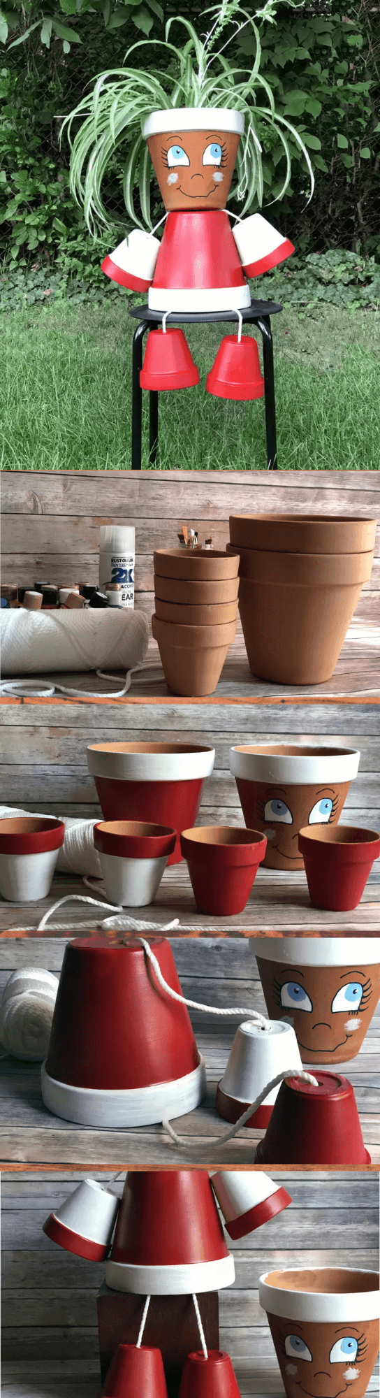 DIY Simple Flower Pot Lady
