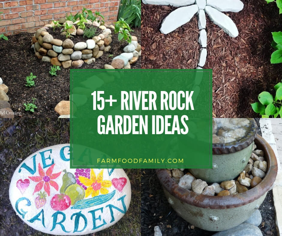 15+ River Rock and Stone Garden...