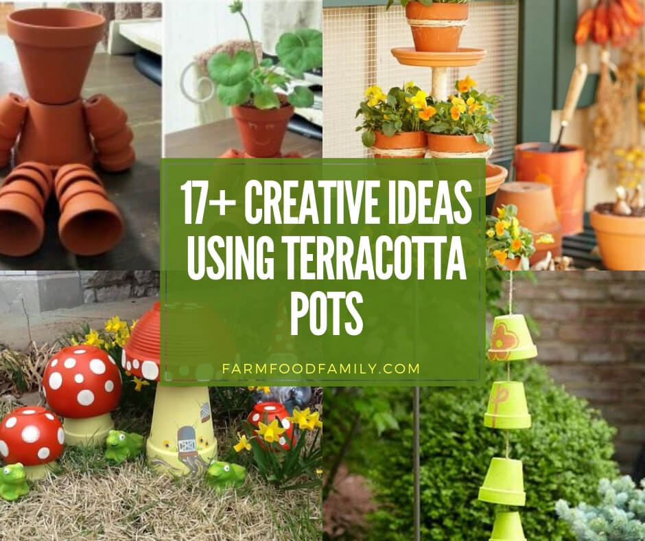 17+ Creative Terracotta Pot Garden...