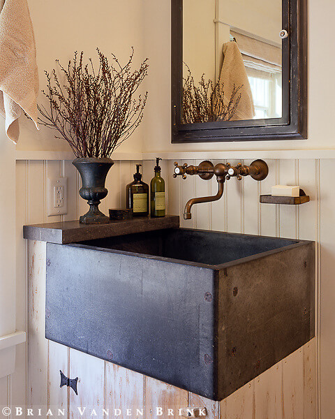 Rustic square sink