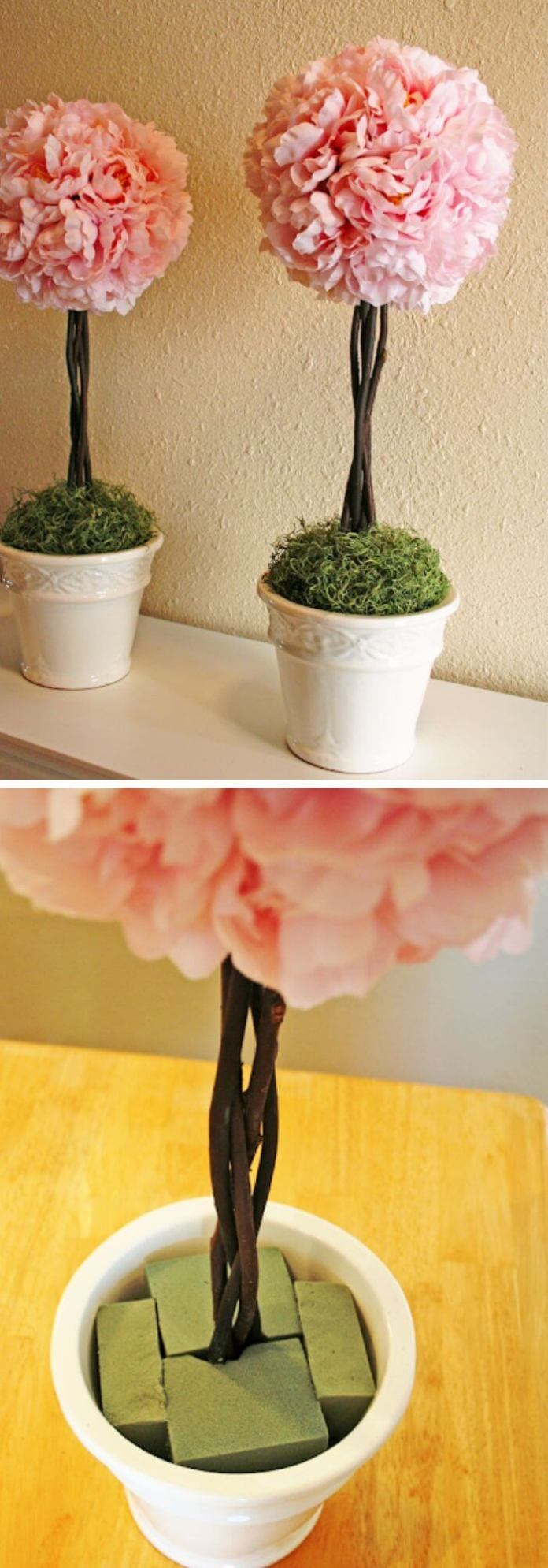 how to make a topiary tree in pot for beginners DIY peony topiaries