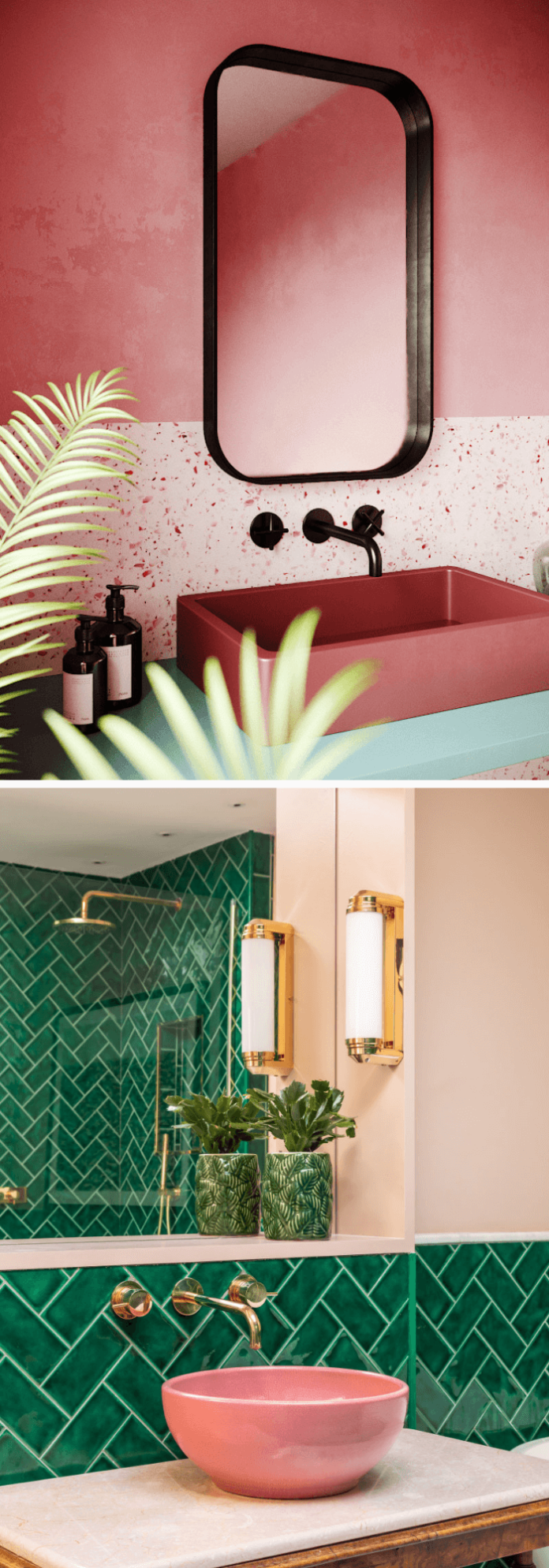 Colorful bathroom sinks