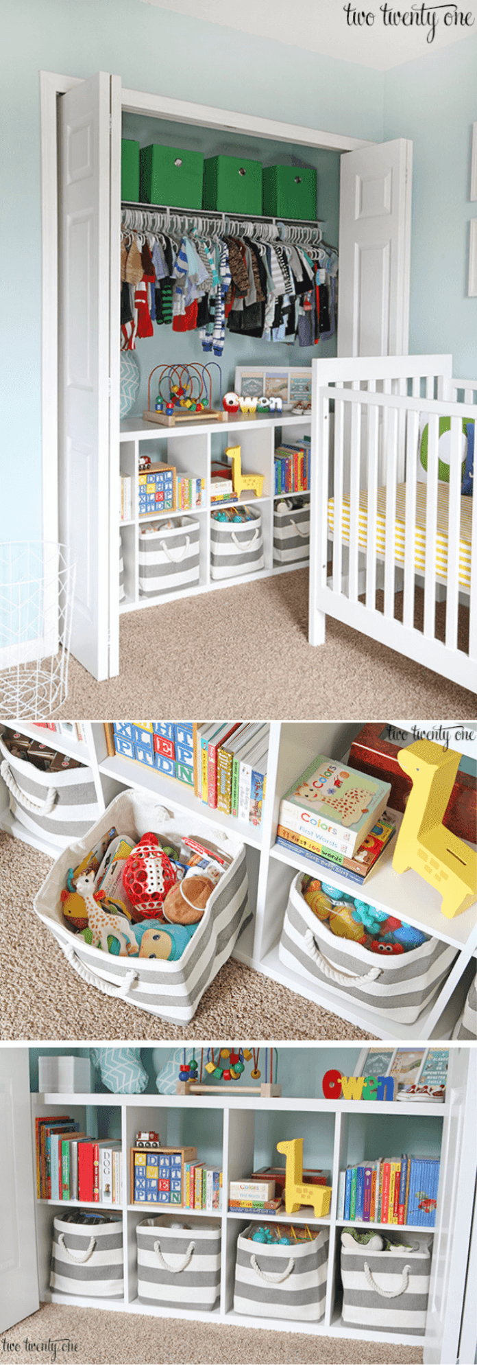 best bedroom organization ideas Nursery closet