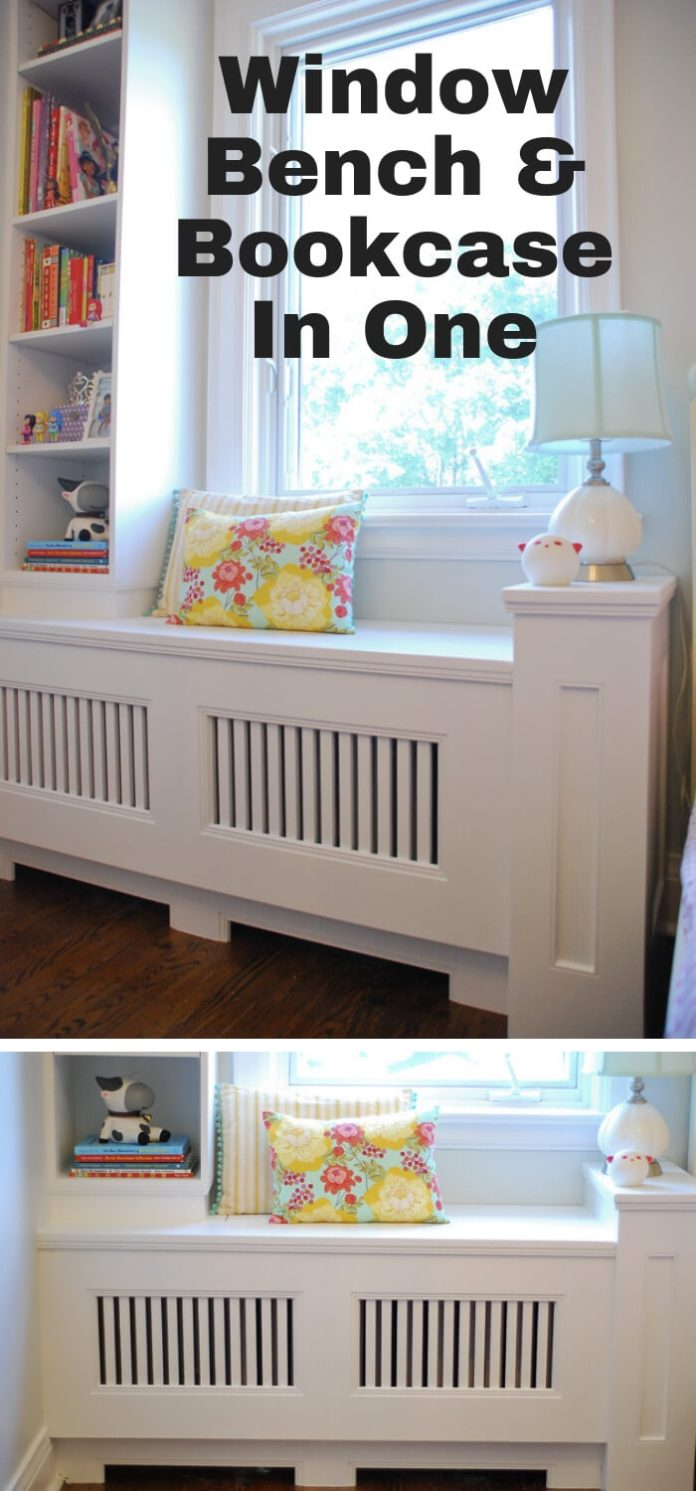 best bedroom organization ideas Window Bench & Bookcase In One