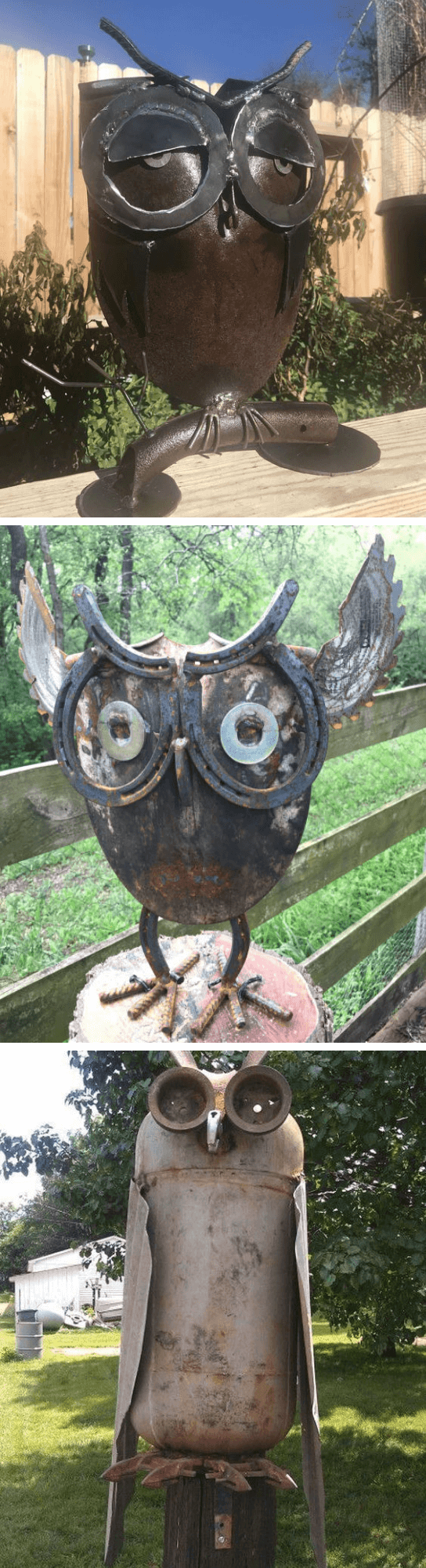 Rusty Metal garden DIY Ideas DIY Metal Owl