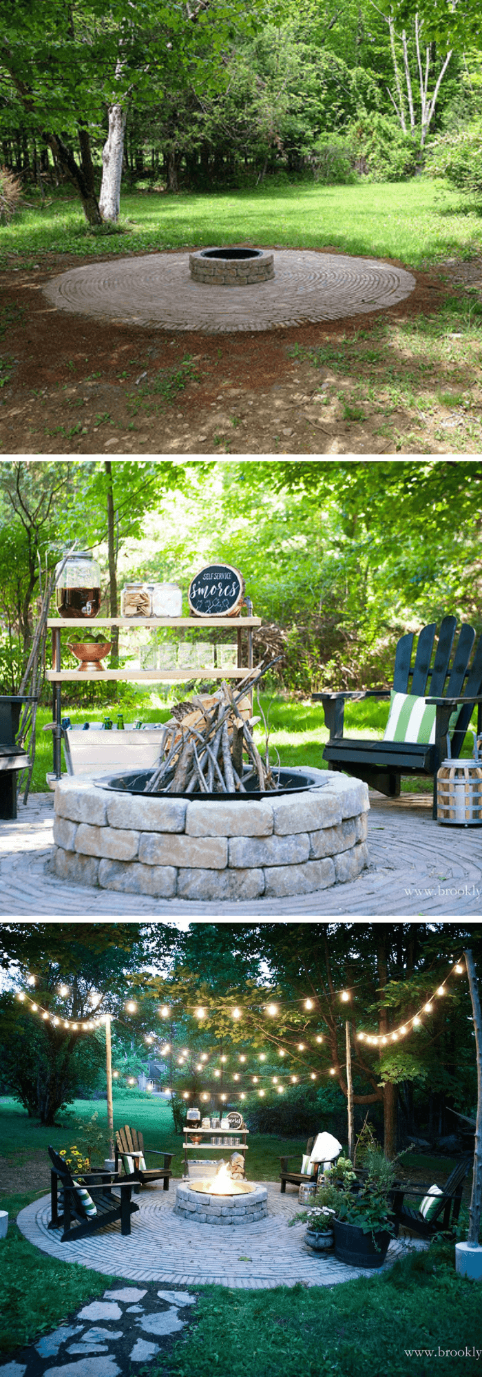 Country Cottage DIY Fire pit Patio