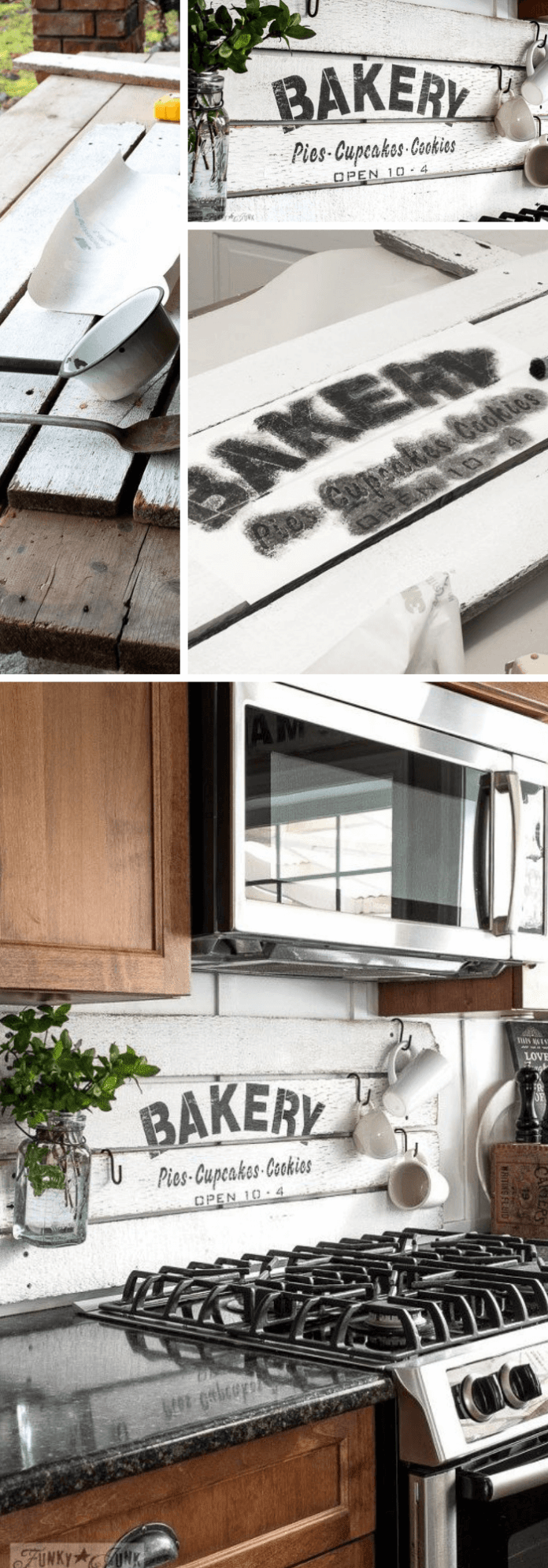 Kitchen Decor Projects With Reclaimed Wood DIY Shiplap Styled BAKERY Sign