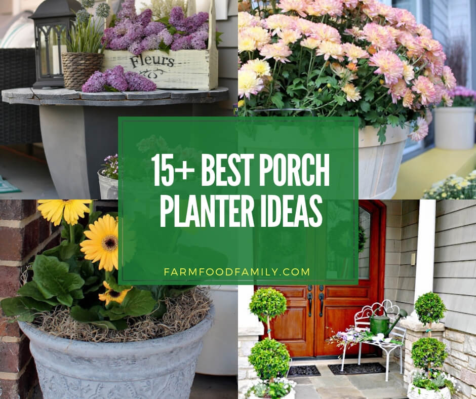 15 Creative Garden Ideas You Can Steal: 15+ Creative Porch Planter Ideas & Designs For Your House 2020