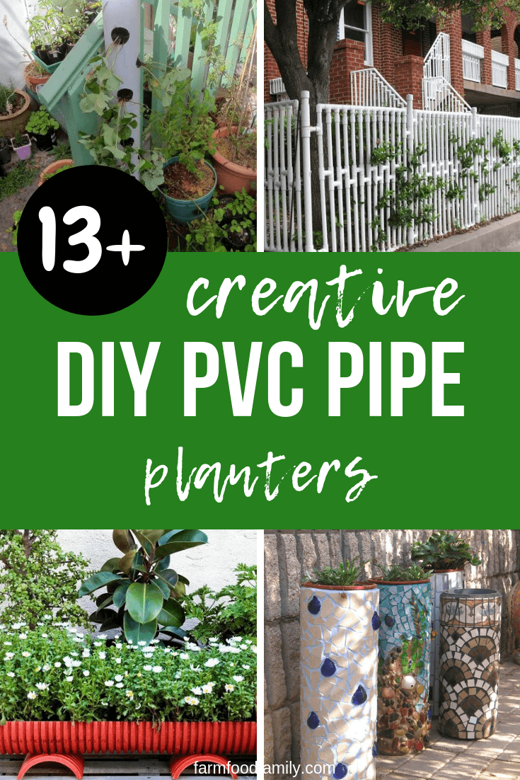 DIY PVC Pipe Planters for Your Garden