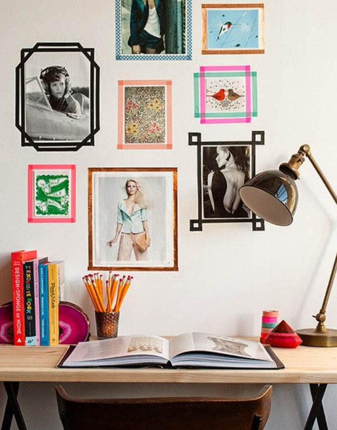 photo frames with washi tape