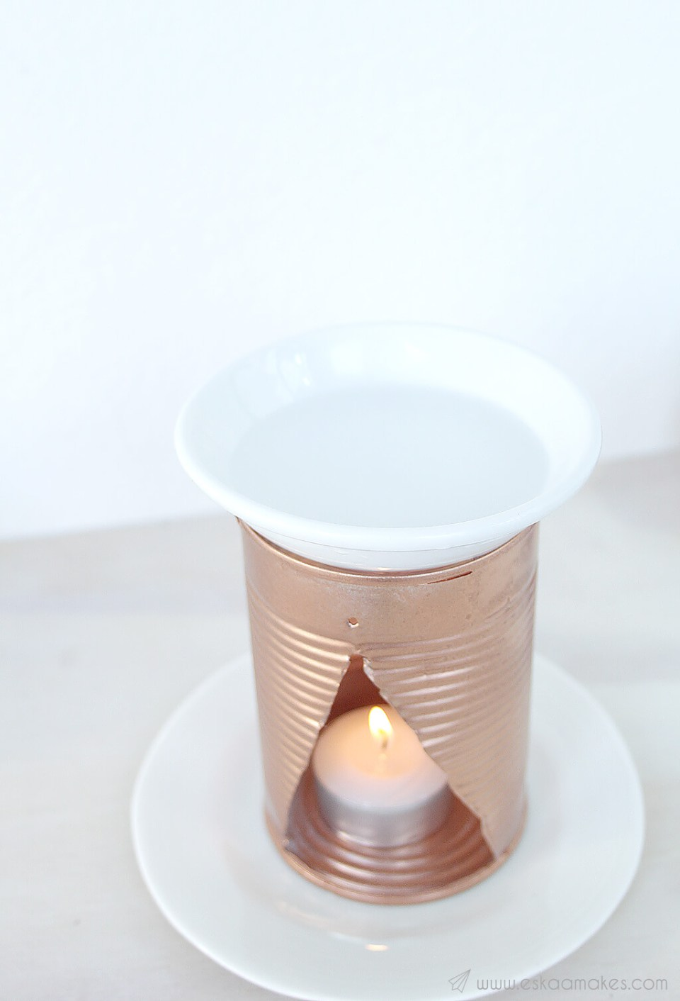 DIY upcycled essential oil burner