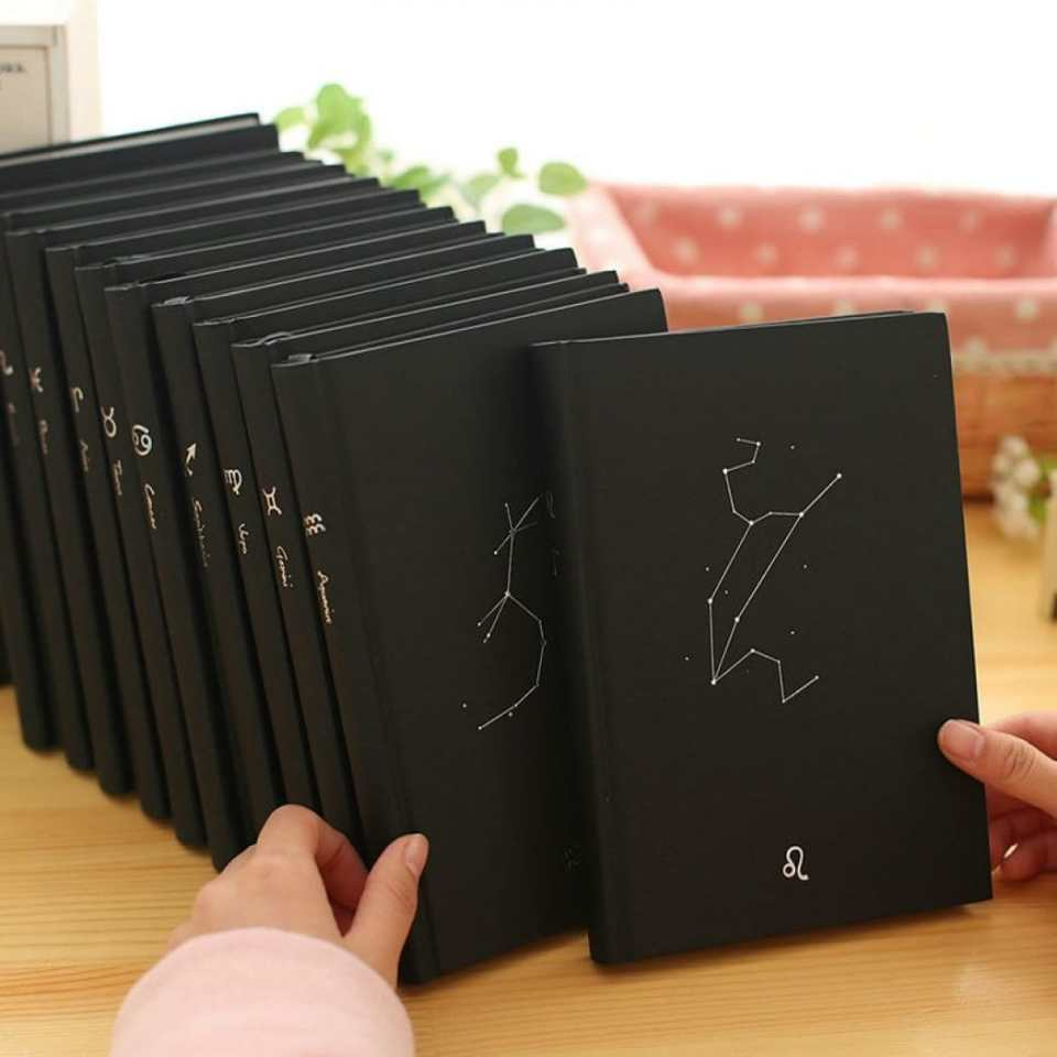 Black notebooks with the content