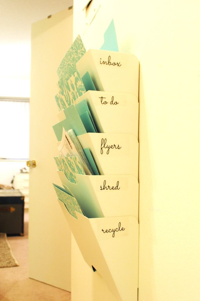 Magazine rack that works to store mail and notes