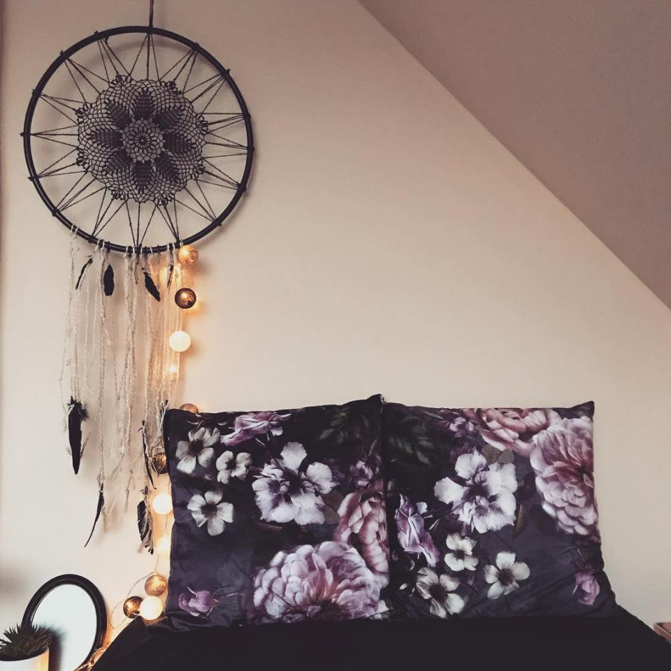 Dreamcatcher hanging on the wall