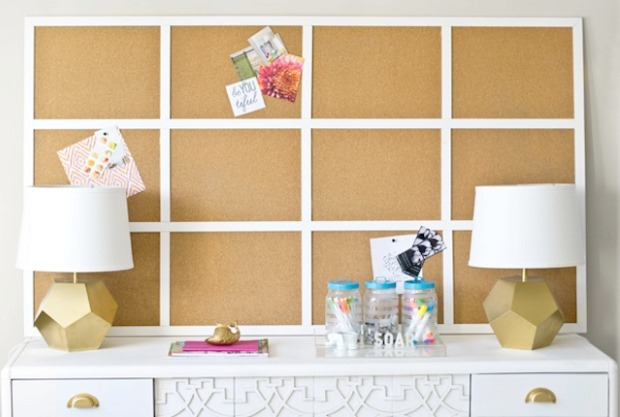 Cork wall used to place important notes