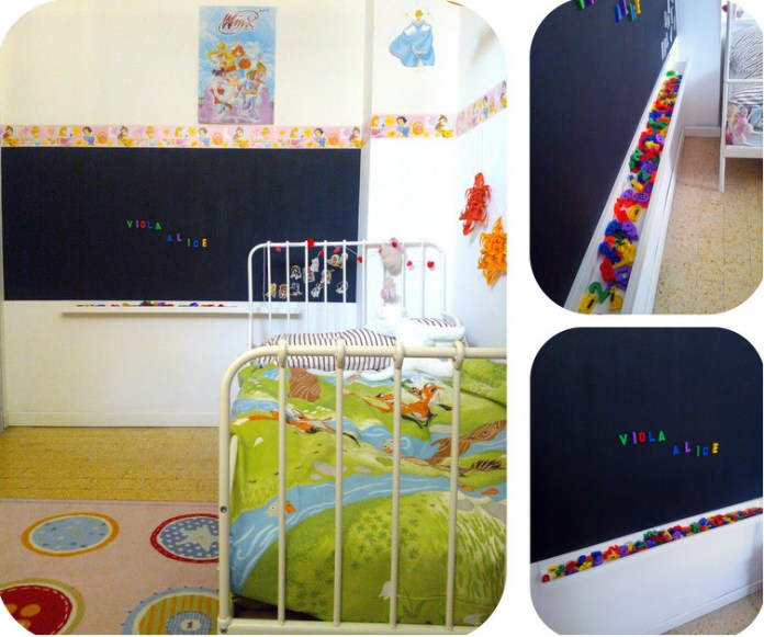 Blackboard for children to draw