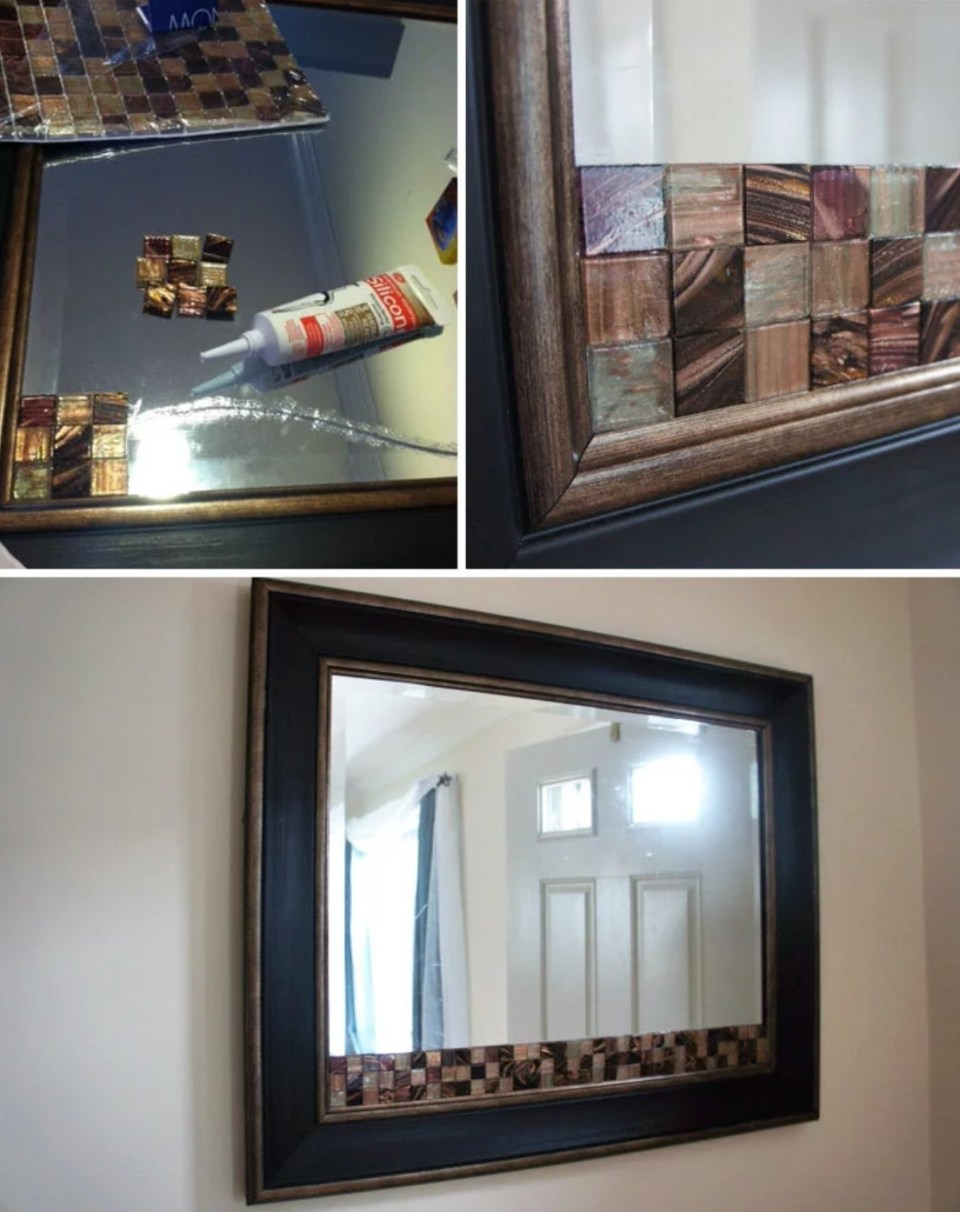 Decoration for cracked house mirror