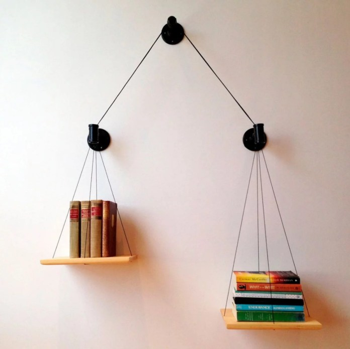Hanging book shelves
