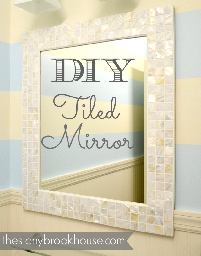 A Custom Tiled Mirror