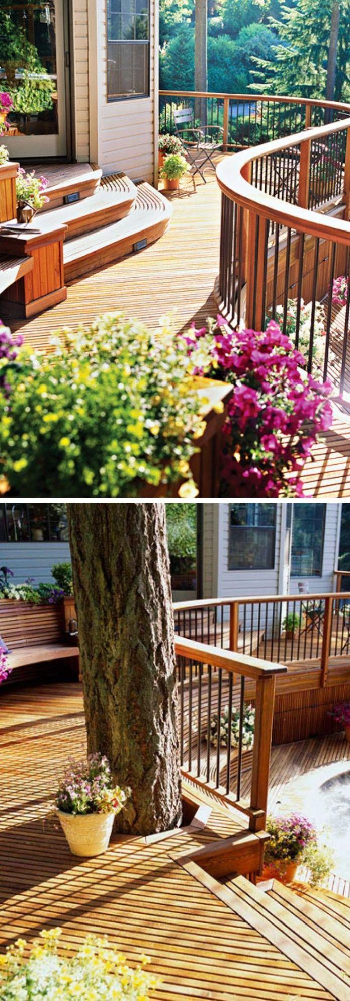 Multilevel Deck with Graceful Curves
