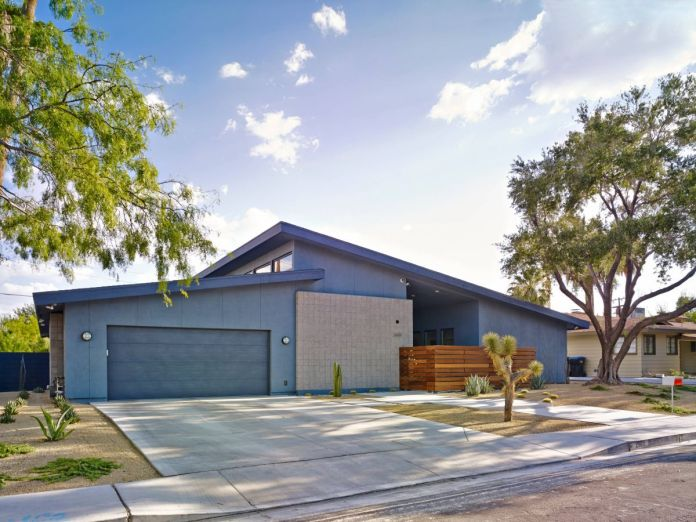 Mid-century modern in blue color