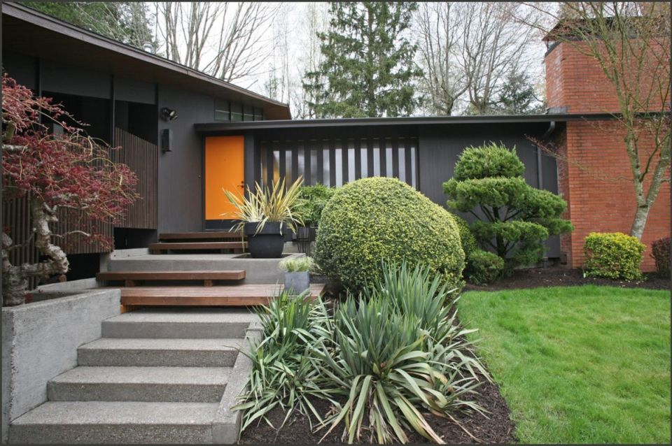 Mid-century modern featuring a black exterior