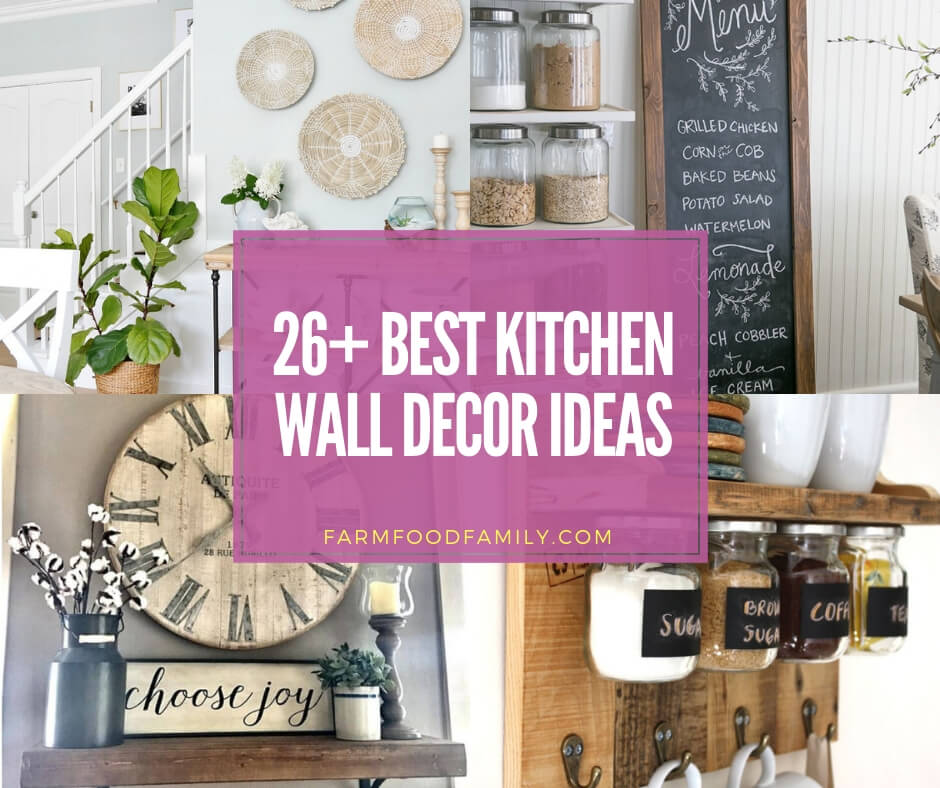 36+ Must-See Kitchen Wall Decor Ideas & Photos For 2020