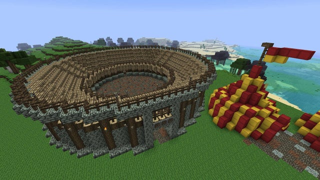 Jousting area minecraft