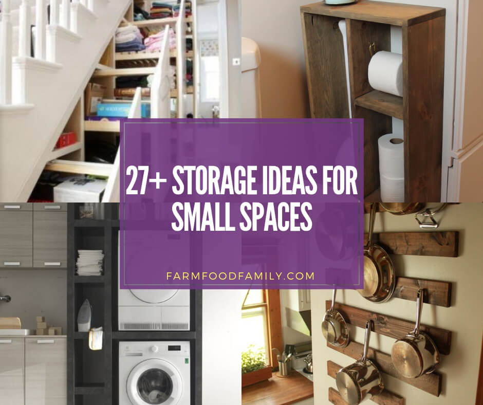 Home Storage Ideas For Small Spaces: 27+ Creative Storage Ideas & Designs For Small Spaces For 2020