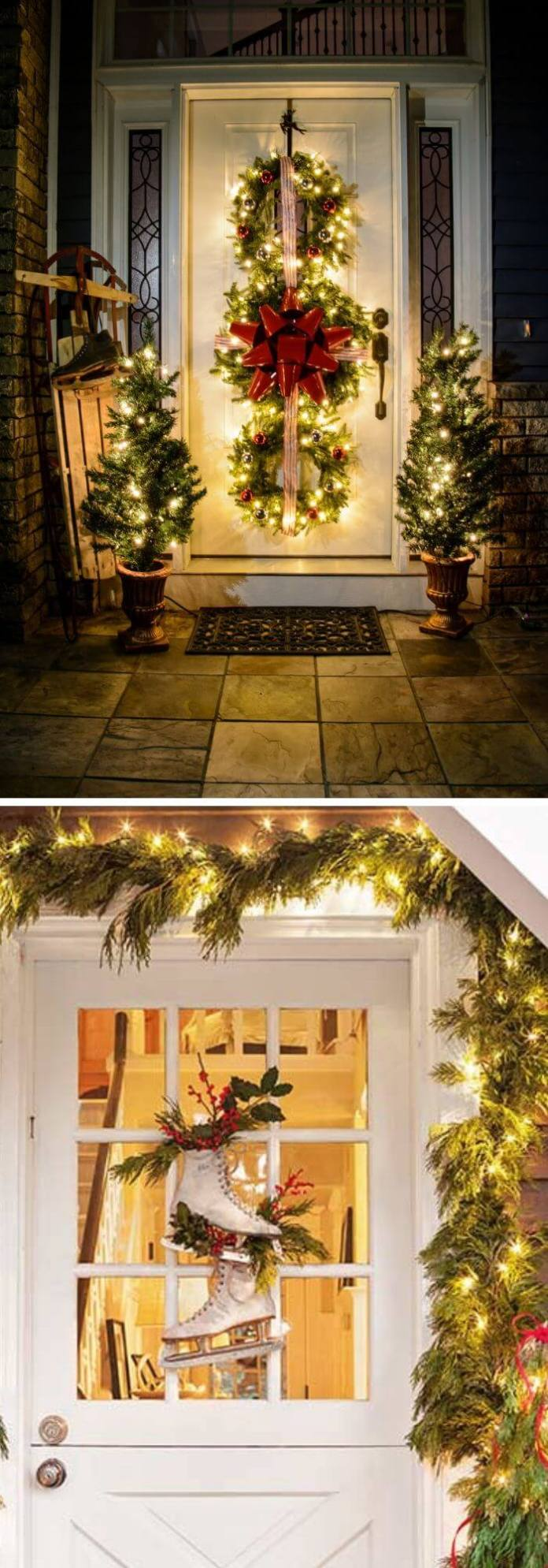 38 Beautiful Diy Outdoor Christmas Decorations Ideas Tutorials For 2020,Home Decor Newspaper Art And Craft