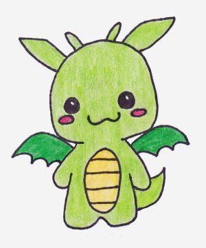 dragon drawings easy drawing clipart dragons simple step draw kawaii anime cool riot library clip doodle napady na awesome disney