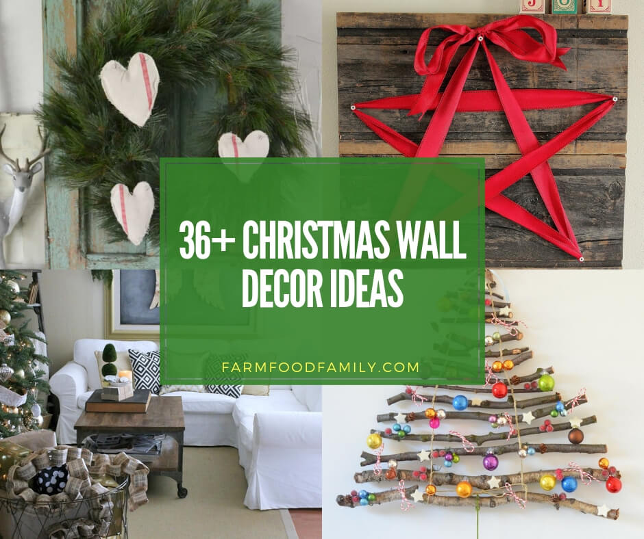 Christmas Wall Decorations To Make: 36+ Creative Christmas Wall Decor Ideas & Projects For 2019