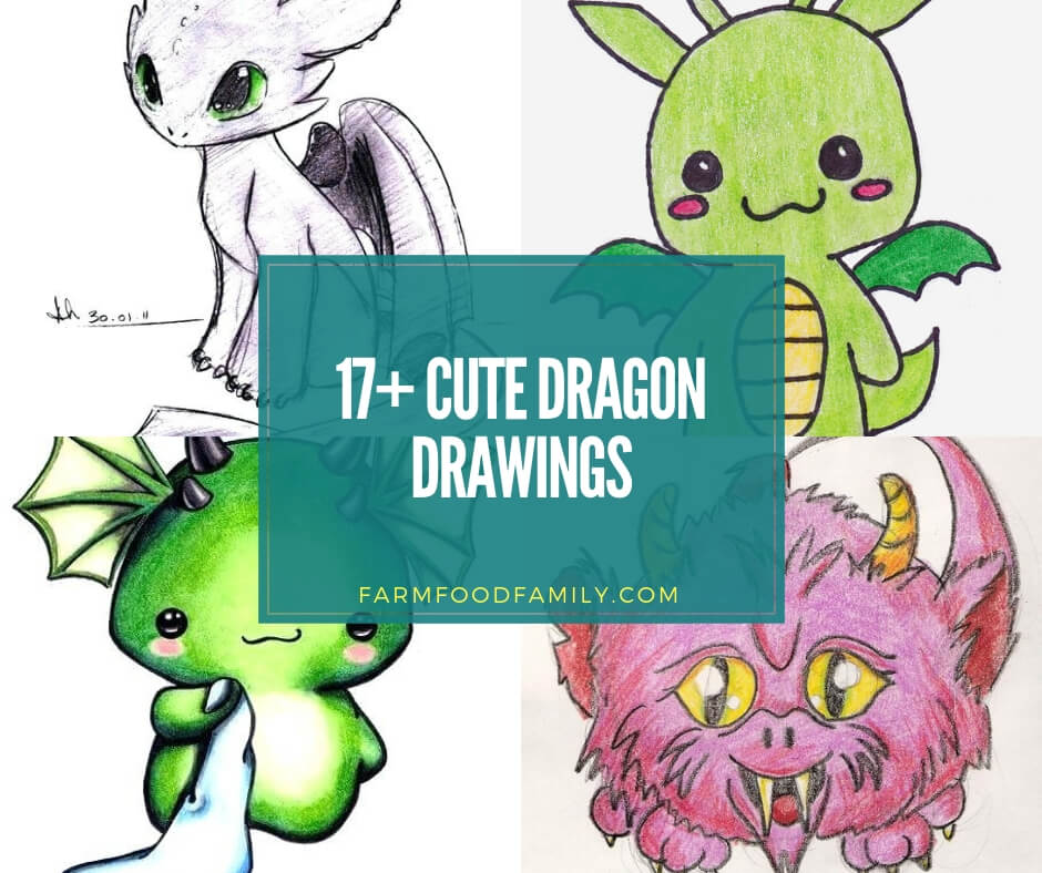17 Dragon Drawings Cool Cute Easy For Your And Your Kids
