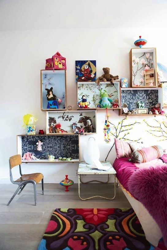Attach crates - Clever DIY Toy Storage & Organization Ideas & Projects For Kids
