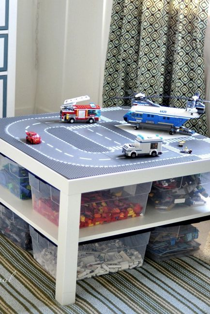 Play table - Clever DIY Toy Storage & Organization Ideas & Projects For Kids