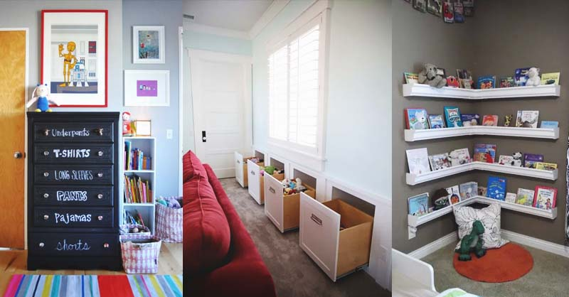 The smart storage option - Clever DIY Toy Storage & Organization Ideas & Projects For Kids