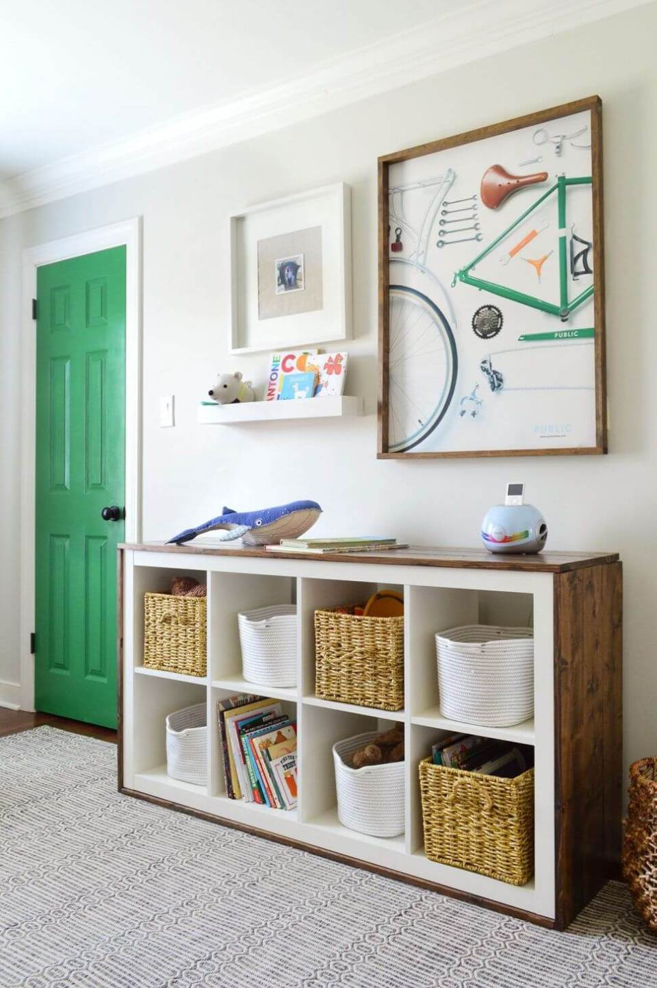Use cubbies - Clever DIY Toy Storage & Organization Ideas & Projects For Kids