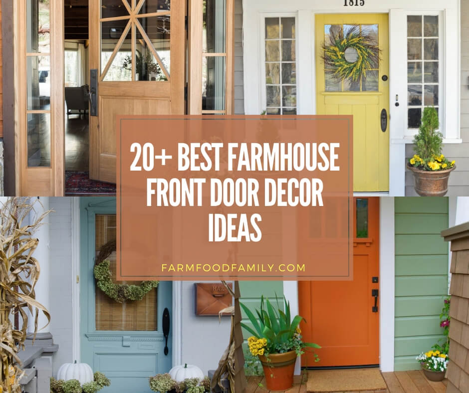 20 Beautiful Farmhouse Front Door Decor Ideas Designs For 2020