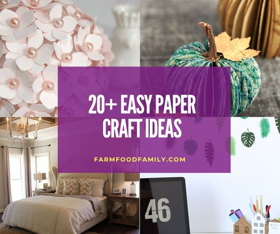 20 Fun Easy Paper Craft Decor Ideas And Projects In 2021