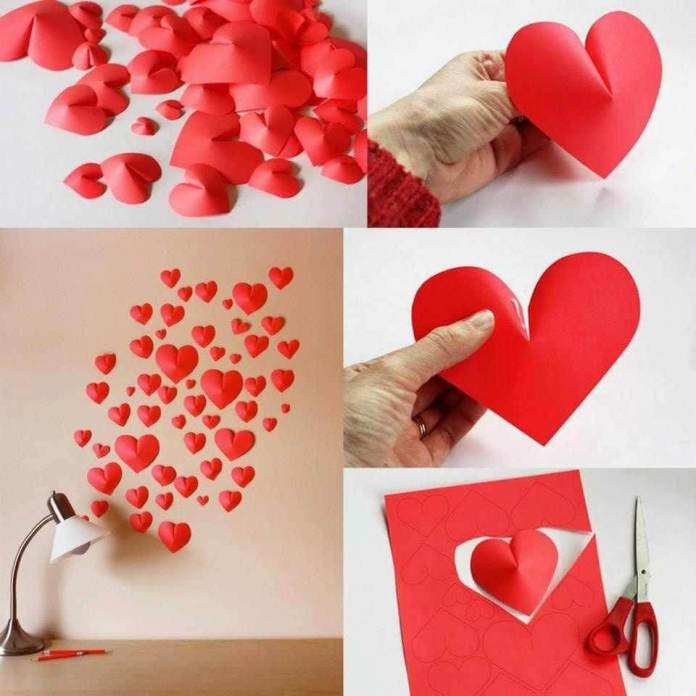 Foam hearts | Heart-Shaped Crafts For Valentine's Day