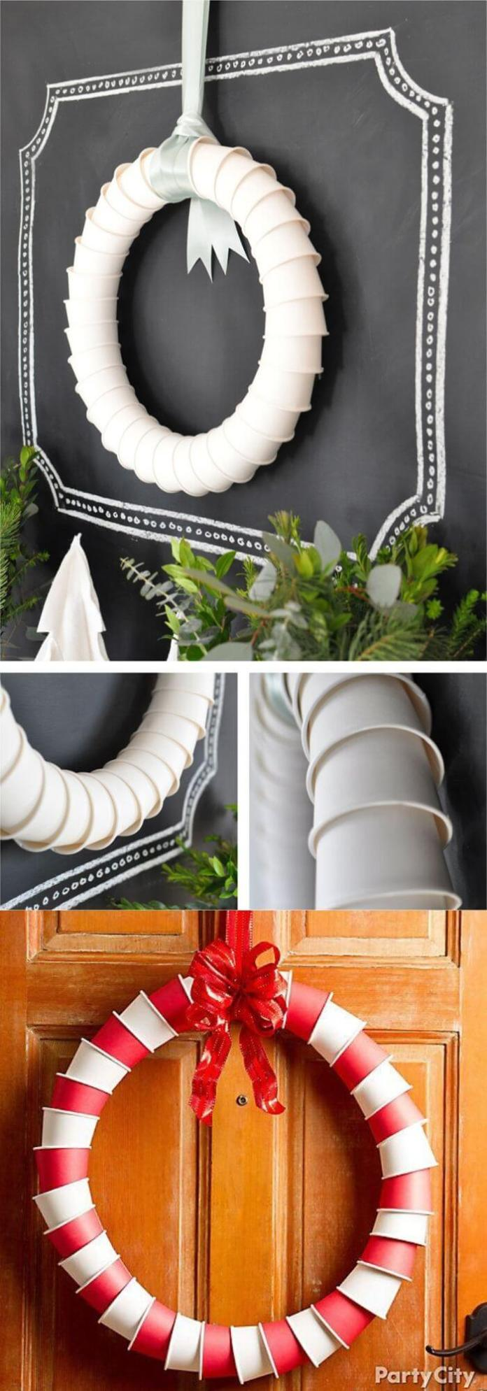 Paper Cup Wreath