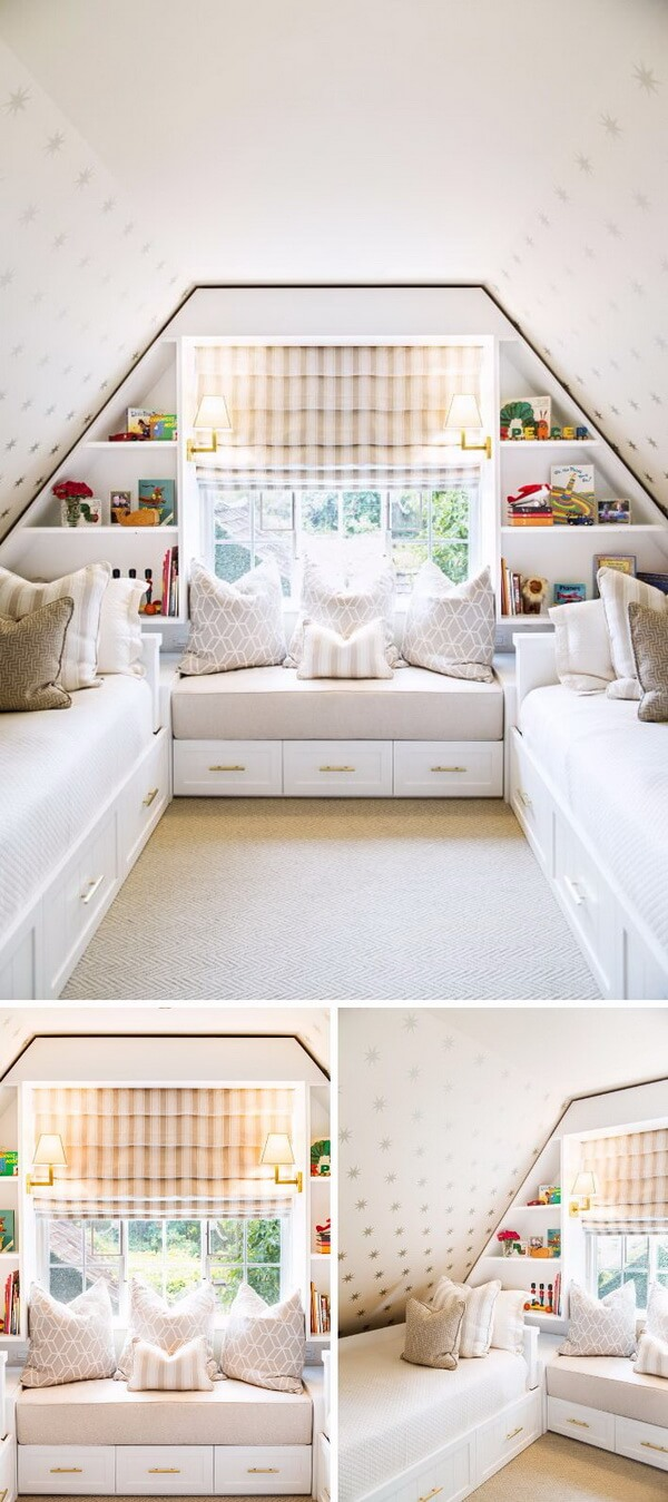 Attic bedroom for two