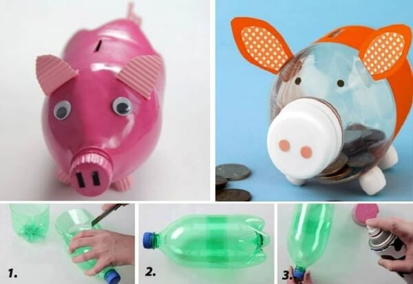 Piggy Bottle Bank