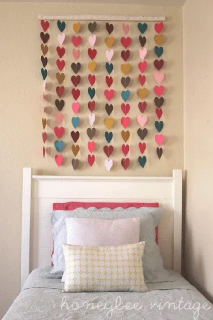 Make garlands from paper cut-outs