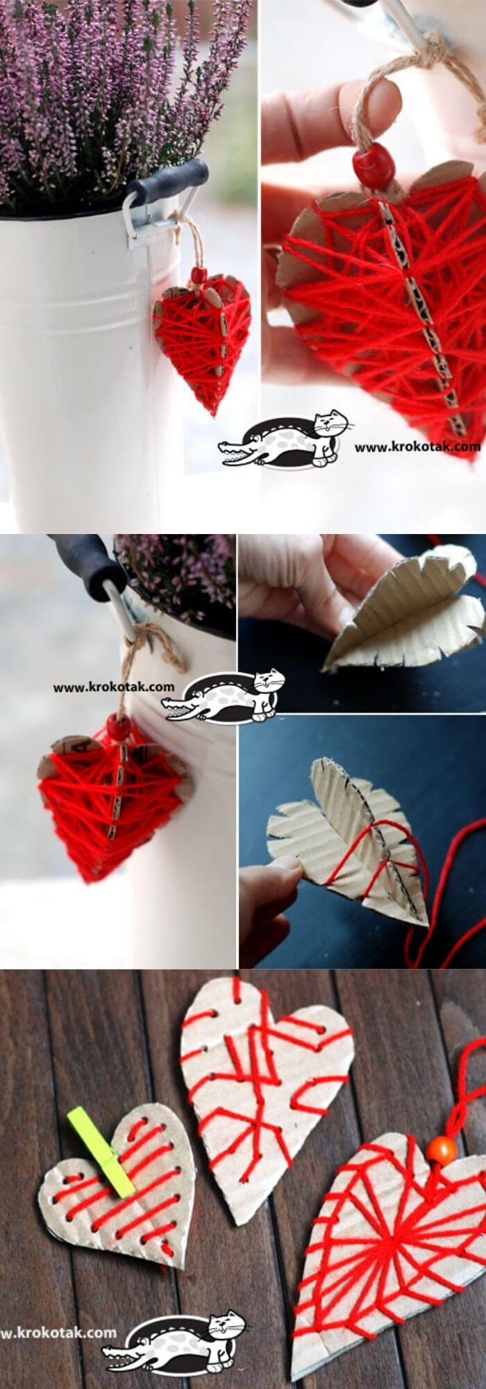 Heart from cardboards | Heart-Shaped Crafts For Valentine's Day